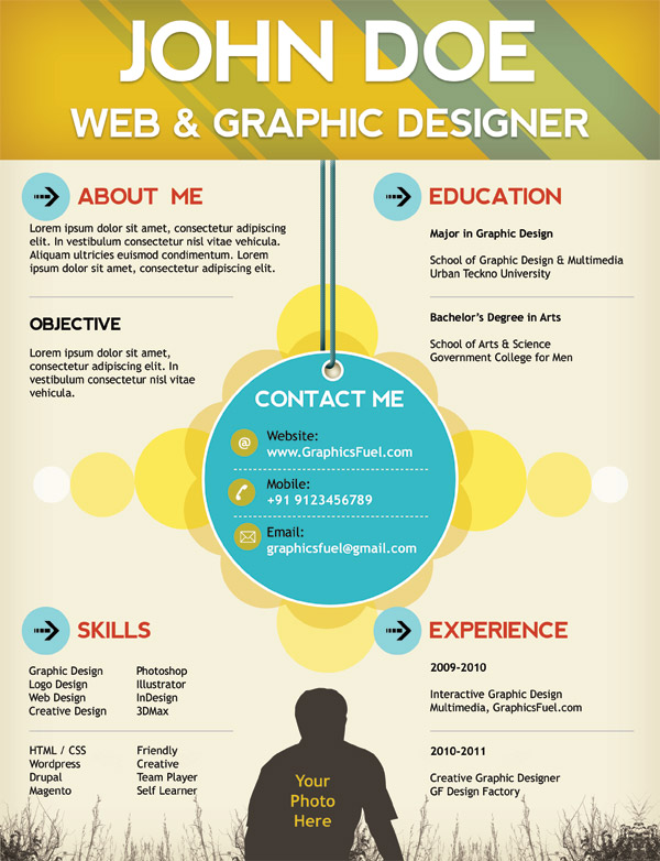 web and graphic designer creative resume